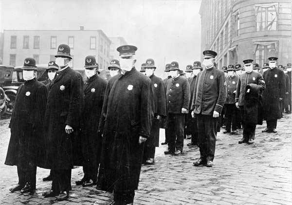 Officers on Duty During Influenza Epidemic